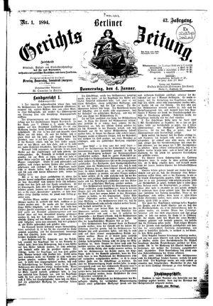 Berliner Gerichts-Zeitung vom 04.01.1894