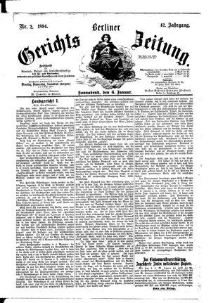Berliner Gerichts-Zeitung vom 06.01.1894