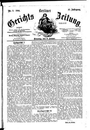 Berliner Gerichts-Zeitung vom 09.01.1894