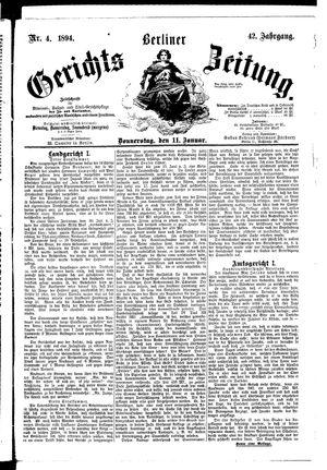 Berliner Gerichts-Zeitung vom 11.01.1894