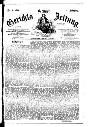 Berliner Gerichts-Zeitung vom 13.01.1894