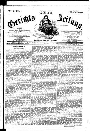 Berliner Gerichts-Zeitung vom 23.01.1894