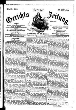 Berliner Gerichts-Zeitung vom 25.01.1894