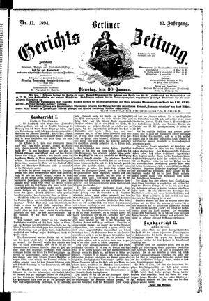 Berliner Gerichts-Zeitung vom 30.01.1894