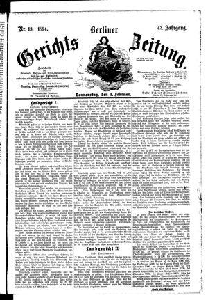 Berliner Gerichts-Zeitung vom 01.02.1894
