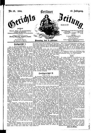 Berliner Gerichts-Zeitung vom 06.02.1894
