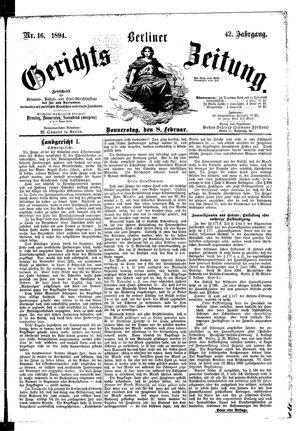 Berliner Gerichts-Zeitung vom 08.02.1894