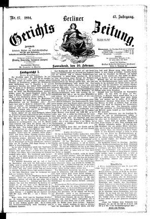 Berliner Gerichts-Zeitung vom 10.02.1894