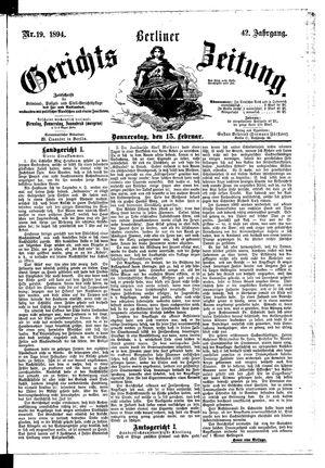 Berliner Gerichts-Zeitung vom 15.02.1894
