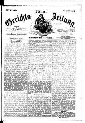Berliner Gerichts-Zeitung vom 17.02.1894