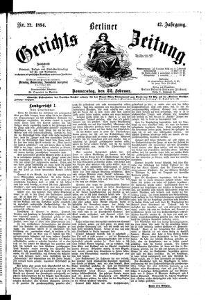 Berliner Gerichts-Zeitung vom 22.02.1894
