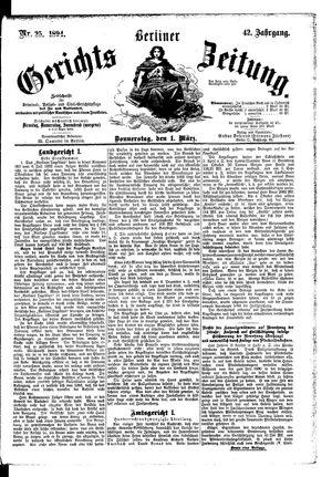 Berliner Gerichts-Zeitung vom 01.03.1894