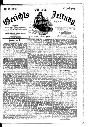 Berliner Gerichts-Zeitung vom 03.03.1894