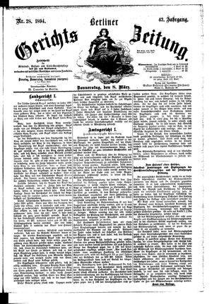 Berliner Gerichts-Zeitung vom 08.03.1894