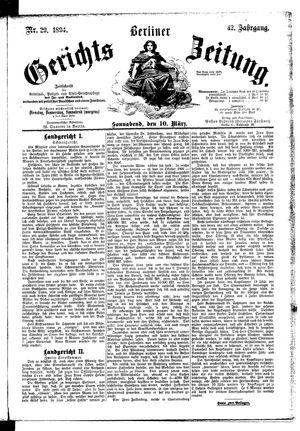 Berliner Gerichts-Zeitung vom 10.03.1894