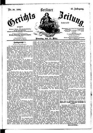 Berliner Gerichts-Zeitung on Mar 13, 1894