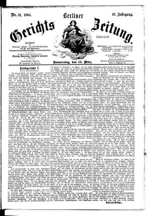Berliner Gerichts-Zeitung on Mar 15, 1894