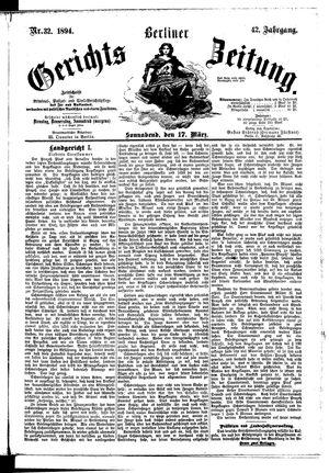 Berliner Gerichts-Zeitung vom 17.03.1894