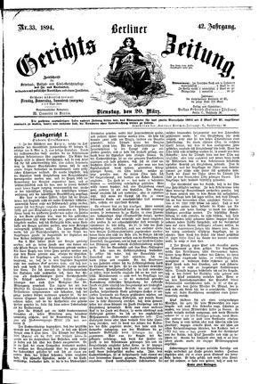Berliner Gerichts-Zeitung vom 20.03.1894