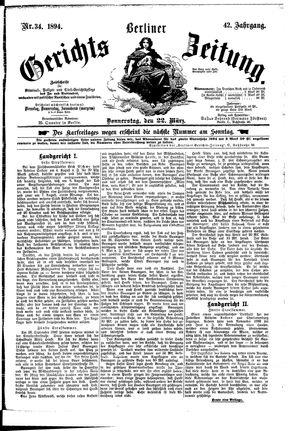 Berliner Gerichts-Zeitung vom 22.03.1894