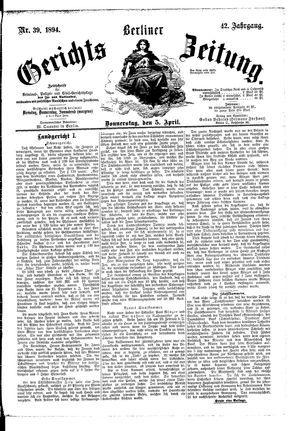 Berliner Gerichts-Zeitung vom 05.04.1894