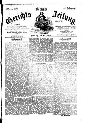 Berliner Gerichts-Zeitung vom 10.04.1894