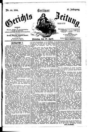 Berliner Gerichts-Zeitung vom 17.04.1894