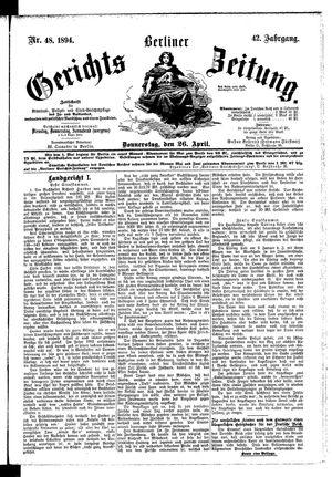 Berliner Gerichts-Zeitung vom 26.04.1894
