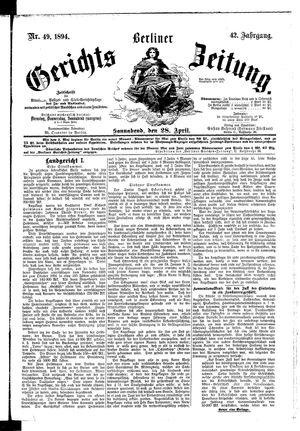 Berliner Gerichts-Zeitung vom 28.04.1894