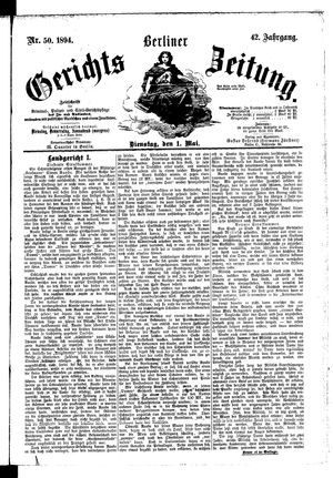 Berliner Gerichts-Zeitung on May 1, 1894