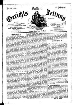 Berliner Gerichts-Zeitung vom 03.05.1894