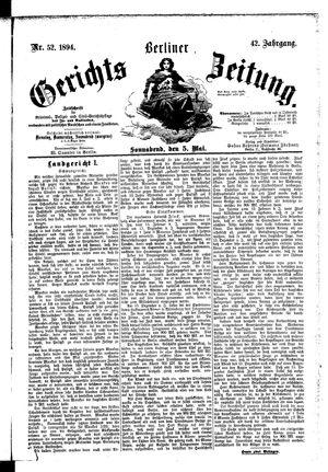 Berliner Gerichts-Zeitung vom 05.05.1894