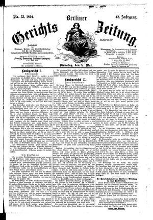 Berliner Gerichts-Zeitung vom 08.05.1894