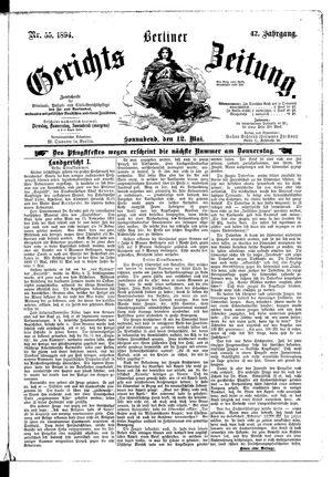 Berliner Gerichts-Zeitung on May 12, 1894