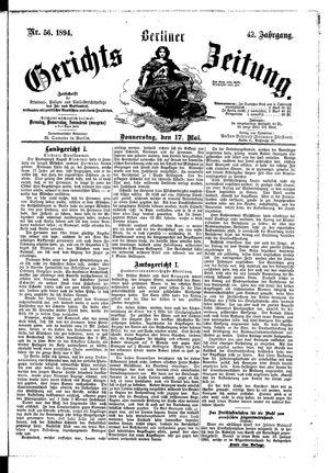Berliner Gerichts-Zeitung vom 17.05.1894