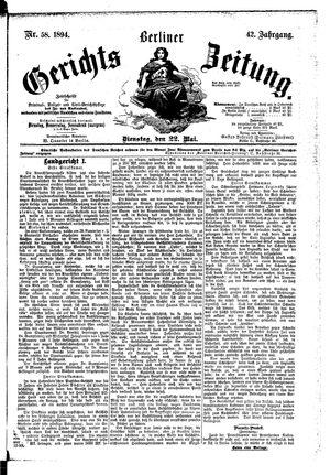 Berliner Gerichts-Zeitung vom 22.05.1894