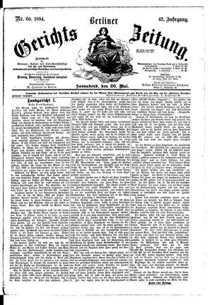 Berliner Gerichts-Zeitung vom 26.05.1894