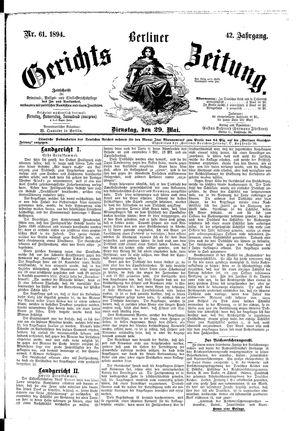 Berliner Gerichts-Zeitung vom 29.05.1894