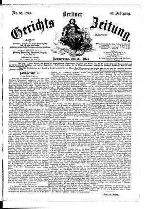 Berliner Gerichts-Zeitung vom 31.05.1894