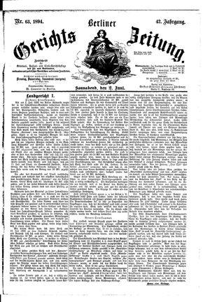 Berliner Gerichts-Zeitung vom 02.06.1894