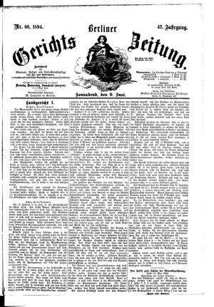 Berliner Gerichts-Zeitung vom 09.06.1894