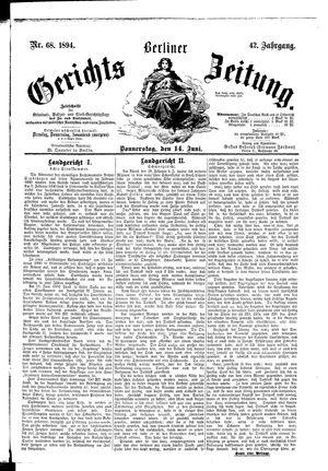 Berliner Gerichts-Zeitung vom 14.06.1894