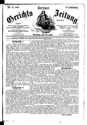 Berliner Gerichts-Zeitung vom 19.06.1894