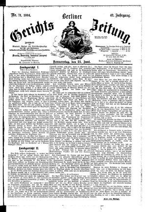 Berliner Gerichts-Zeitung vom 21.06.1894