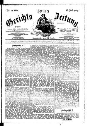 Berliner Gerichts-Zeitung vom 23.06.1894