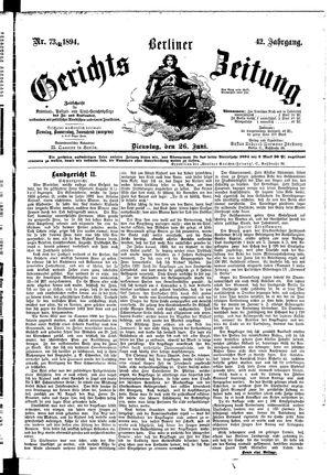 Berliner Gerichts-Zeitung vom 26.06.1894