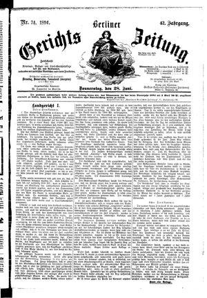 Berliner Gerichts-Zeitung vom 28.06.1894