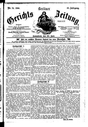 Berliner Gerichts-Zeitung vom 30.06.1894