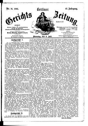 Berliner Gerichts-Zeitung vom 03.07.1894