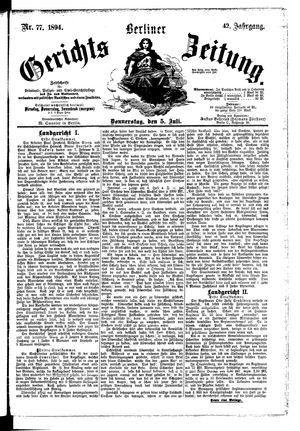 Berliner Gerichts-Zeitung vom 05.07.1894